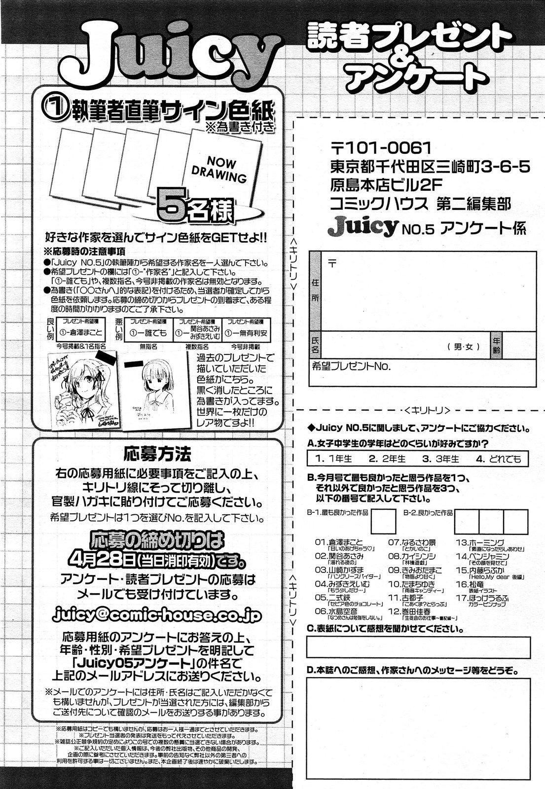 Juicy No. 5 2014-04 305
