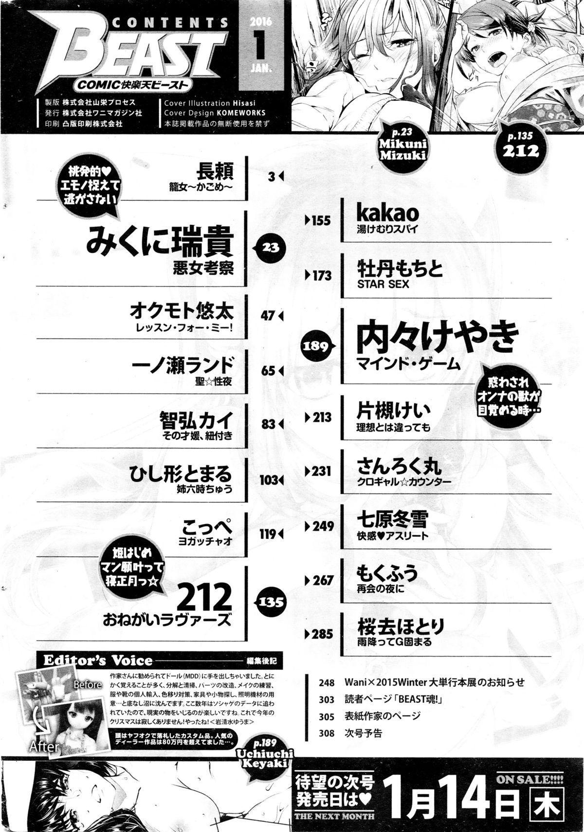 COMIC Kairakuten BEAST 2016-01 309