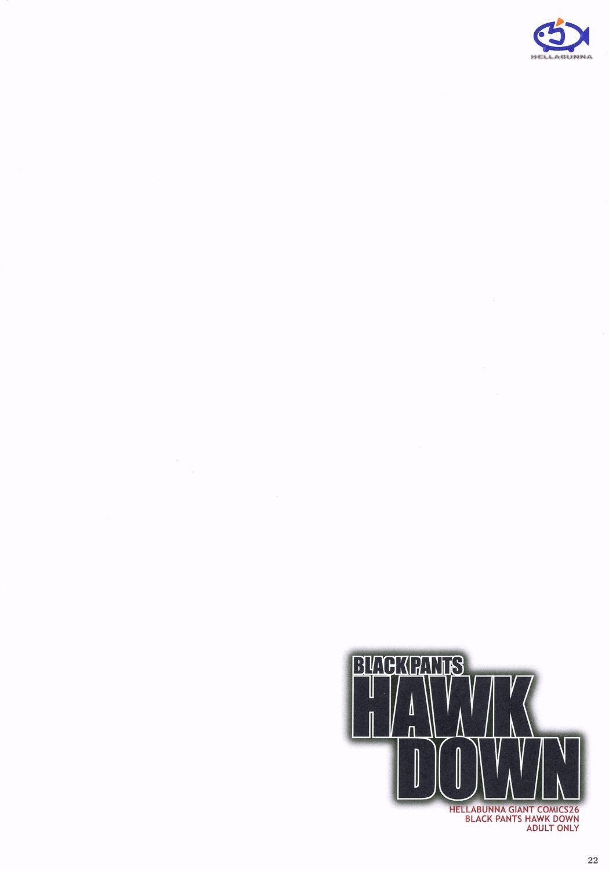 BLACK PANTS HAWK DOWN 20