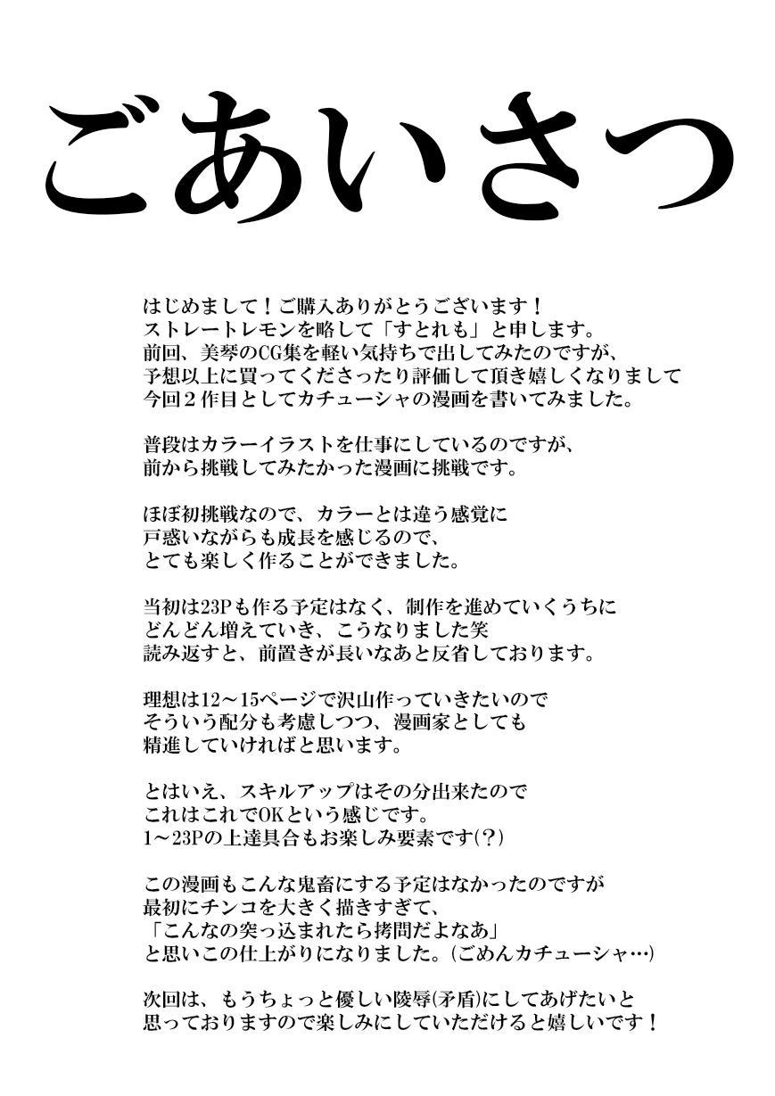 Youji Taikei no Katyusha ni Saimin Shitsutsu Kyokon o Nejikomu Kichiku na Hon 24
