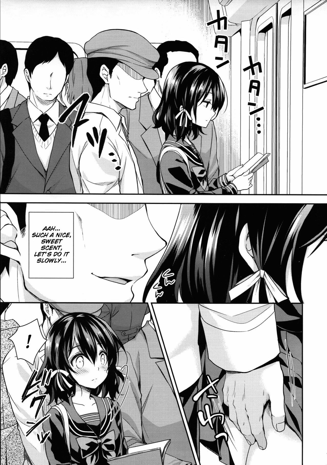 (COMIC1☆13) [Sugar*Berry*Syrup (Kuroe)] Chijoku no Chikan Densha 2 ~ Nerawareta Jukensei ~| Shameless Train Molester 2 ~Pursued Examinee~ [English] [obsoletezero] 5