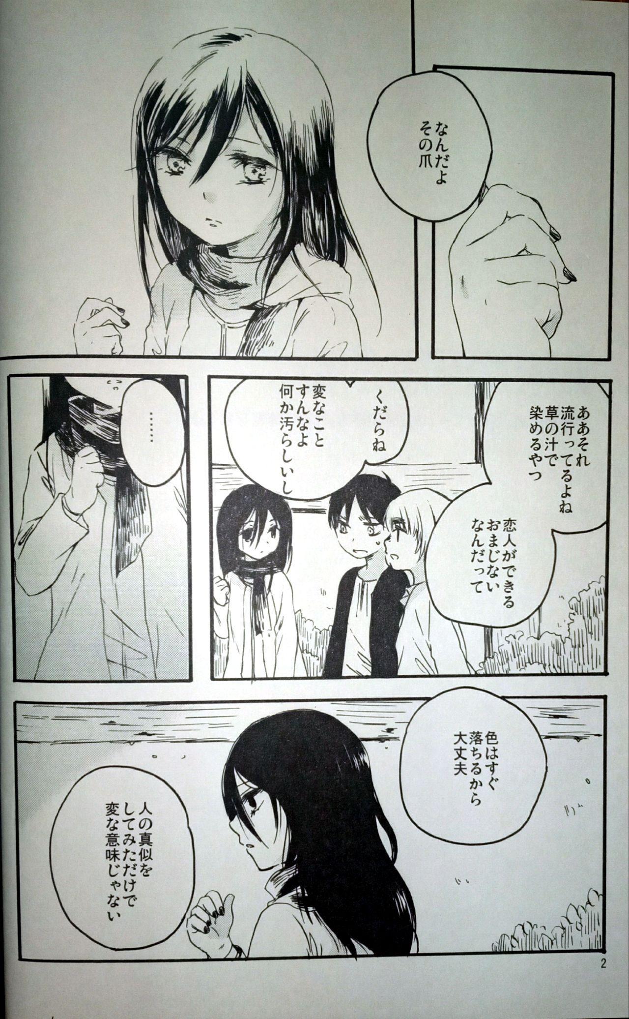(C86) [iron (Kanae)] 21-sai to 9-sai no Mikasa ni Aisarete Yoru mo Nemurenai Eren no Hanashi (Shingeki no Kyojin) 2