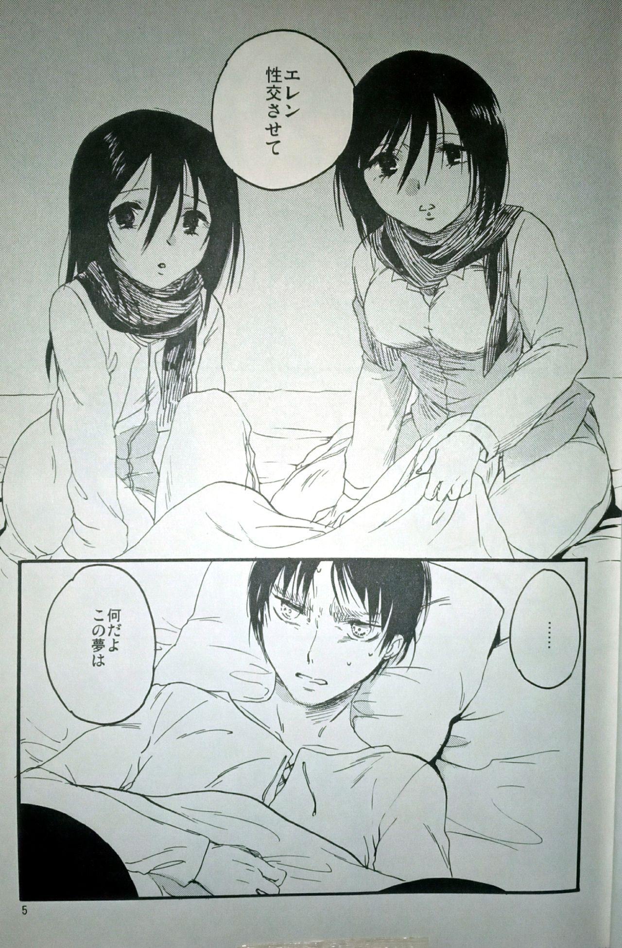 (C86) [iron (Kanae)] 21-sai to 9-sai no Mikasa ni Aisarete Yoru mo Nemurenai Eren no Hanashi (Shingeki no Kyojin) 5