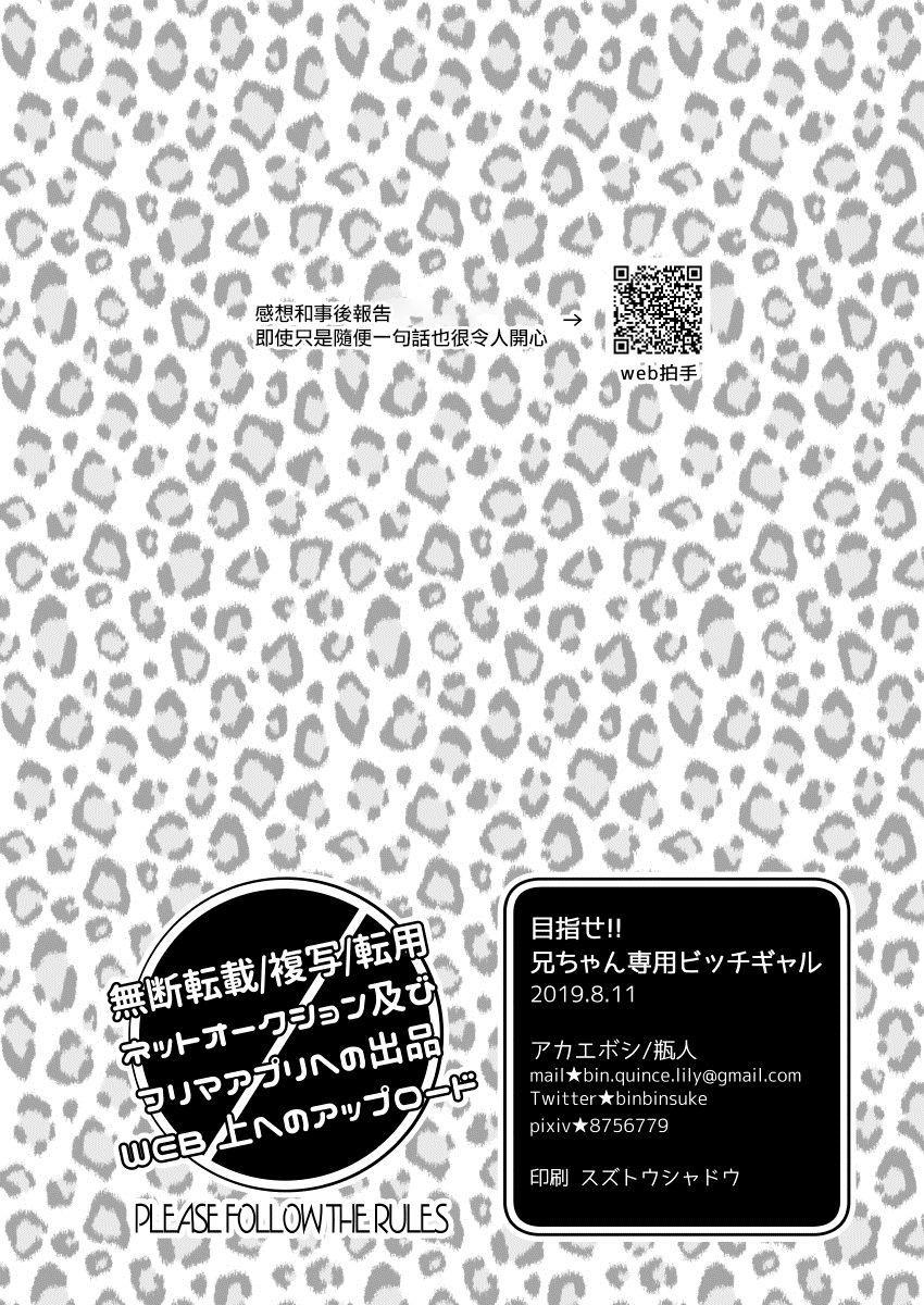 Mezase!! Nii-chan Senyou Bitch Gal   目標!!哥哥專用婊子辣妹 21