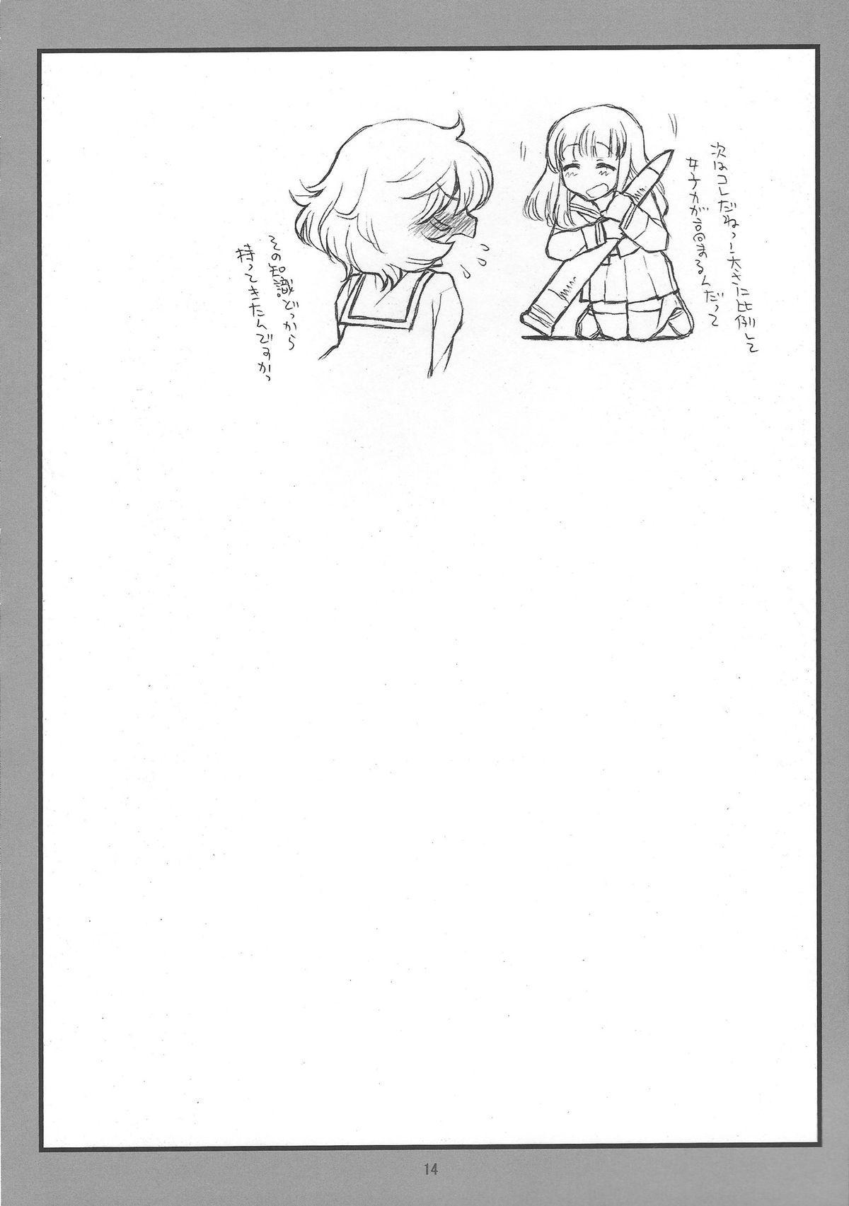 (C84) [bolze.] 「Honanie + Akiyama-dono Sennyudaisakusen (Sippai)」 (Girls und Panzer) 13
